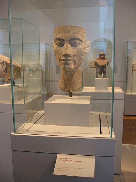 تمثال غير مكتمل الصنع فى متحف بروكلين لنفرتيتى