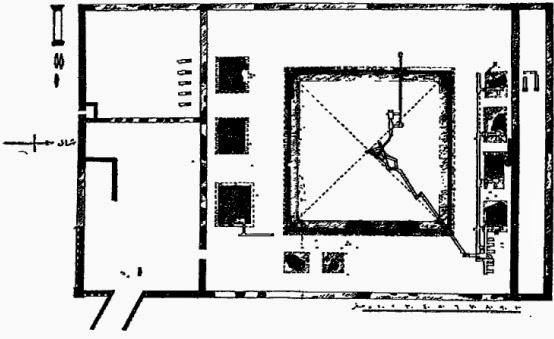رسم تخطيطى لهرم سنوسرت الثالث بدهشور