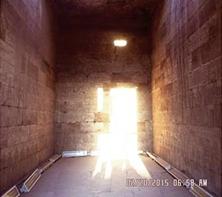 """تعامد الشمس على ماميزي معبد """"إدفو"""" 20-2-2015م"""